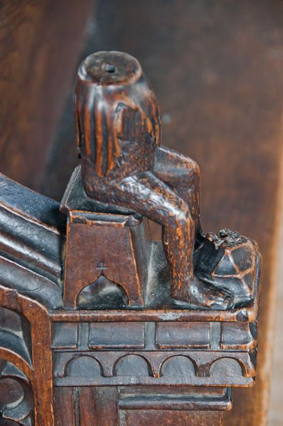 Laxfield, All Saints photo, Carved bench end