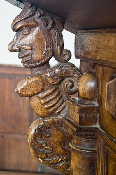 Laxfield, All Saints photo, Reading desk carved figure 2