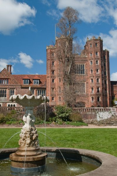 Layer Marney Tower photo, Garden fountain and towers