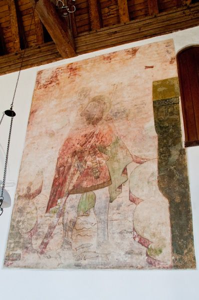 Layer Marney, St Mary's Church photo, St Christopher wall painting