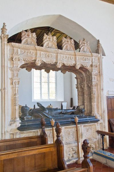 Layer Marney, St Mary's Church photo, 1st Lord Marney memorial