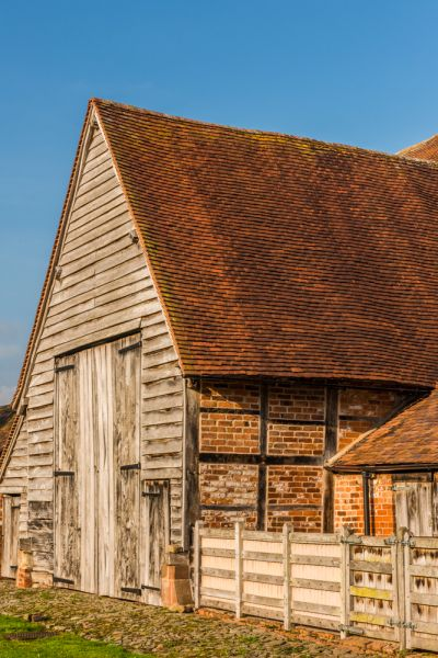 Leigh Court Barn photo, Another of the gabled porches