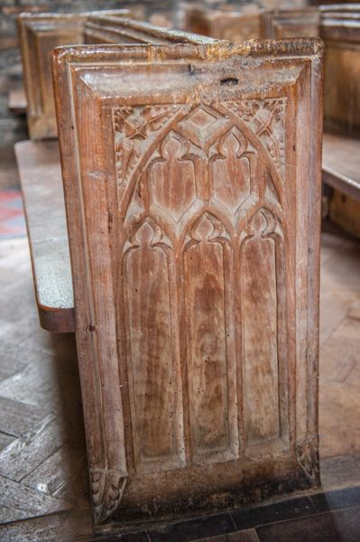 Leigh on Mendip, St Giles Church photo, Late 14th century bench ends