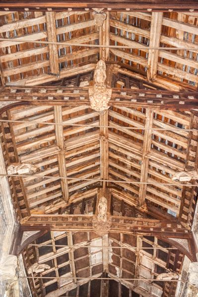 Leigh on Mendip, St Giles Church photo, 15th century nave roof