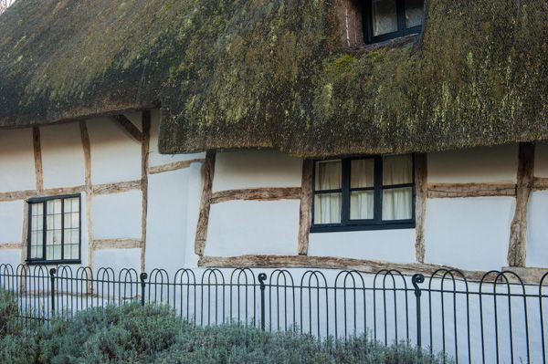 Letcombe Bassett, St Michael & All Angels Church photo, Thatched, timber frame cottage opposite the church