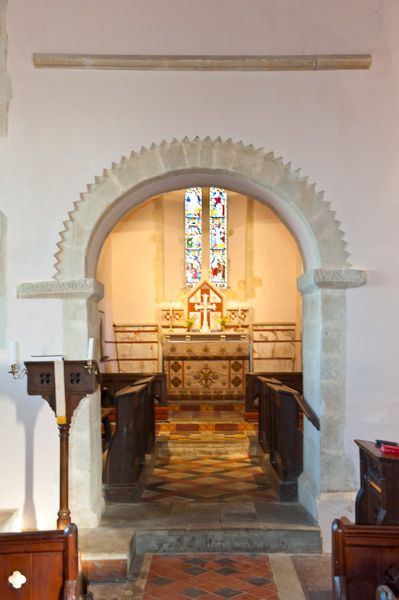 Letcombe Bassett, St Michael & All Angels Church photo, 13th century chancel arch