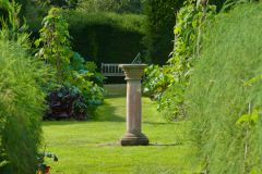 Levens Hall, A sundial in the garden