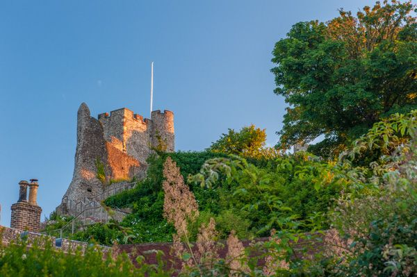Lewes Castle and Barbican House Museum photo, The castle in evening light