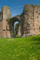Lilleshall Abbey, West front 2