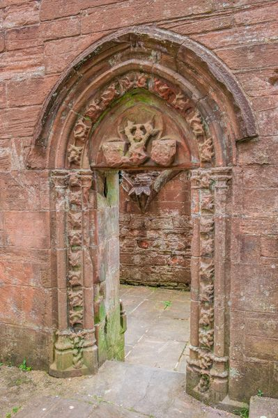 Lincluden Collegiate Church photo, North doorway from the chancel