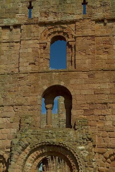 Lindisfarne Priory photo, The west front of the church
