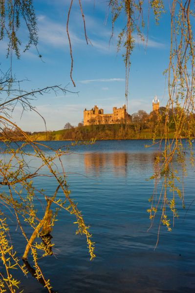 Linlithgow Palace photo, The Palace reflected in the loch
