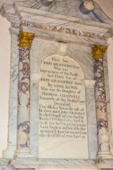 Little Barrington, St Peter's Church, John Grayhurst memorial, d. 1750