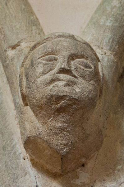 Little Faringdon, St Margaret's Church photo, Carved head, nave arcade