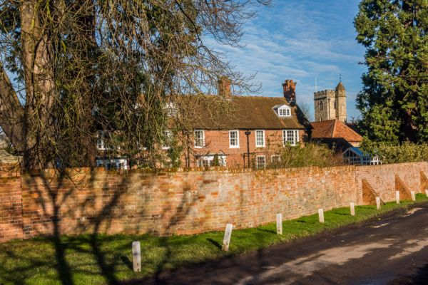 Little Wittenham, St Peter's Church photo, The church and manor house