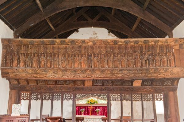 Llananno Church photo, The rood screen