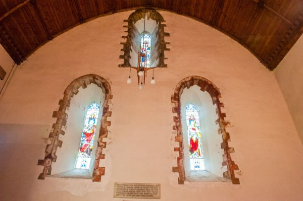 Llanbadarn Fawr, St Padarn's Church photo, A trio of Romanesque west windows