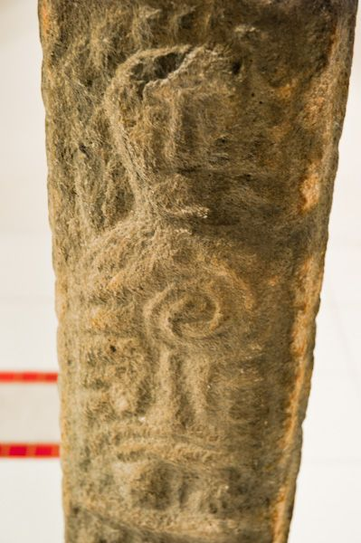 Llanbadarn Fawr, St Padarn's Church photo, Pillar cross carved figure