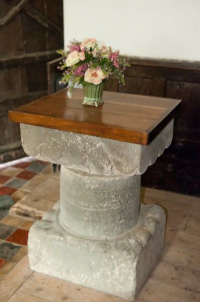Llanfihangel-y-pennant, St Michael's Church photo, 12th century Font