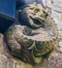 Medieval dragon carving