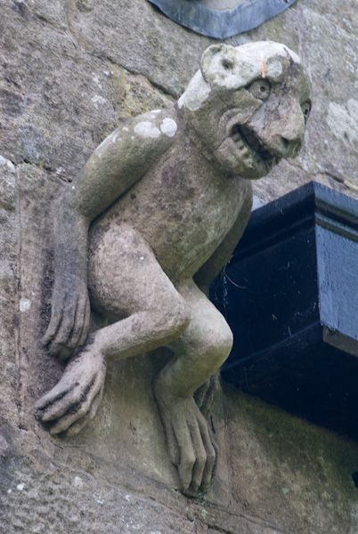 Llangadwaladr, St Cadwaladr's Church photo, Medieval gargoyle