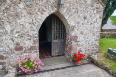 Llangennith, St Ceyndd Church, The north porch entrance