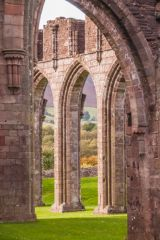Llanthony Priory , The north nave arcade through an arch