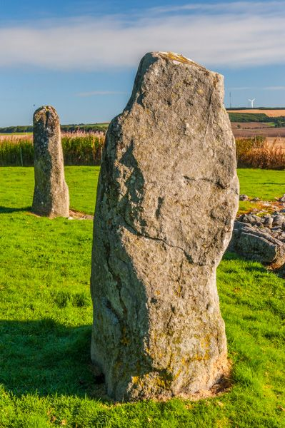 Loanhead of Daviot Stone Circle photo, Upright stones in the circle