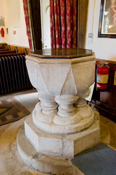 Londesborough, All Saints Church photo, 13th century font