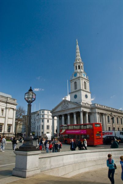 St Martin-in-the-Fields photo, St Martin in the Fields from Trafalgar Square