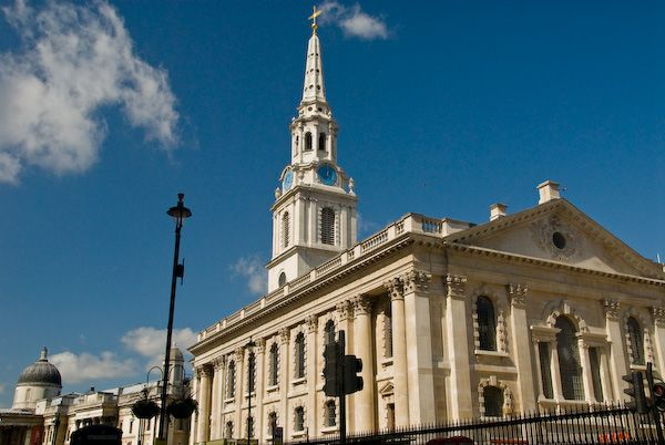 London photo, St Martin in the Fields, Duncannon Street elevation