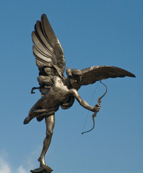 London photo, Statue of Eros, Piccadilly Circus