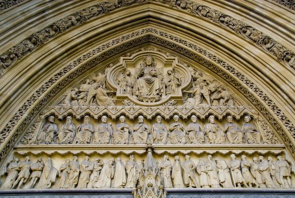 London photo, Westminster Abbey, Tympanum
