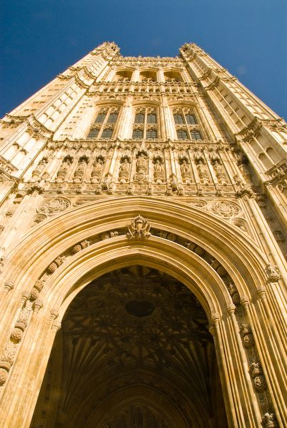 London photo, Victoria Tower archway, Palace of Westminster