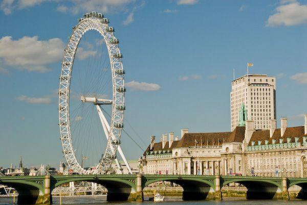 London photo, London Eye from Victoria Tower Gardens