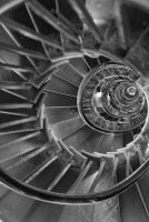 London Monument, Spiral staircase