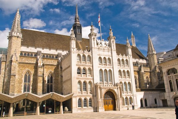 London Guildhall photo, London Guildhall across Guildhall Yard