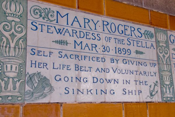 Postman's Park photo, Mary Rodgers memorial tile