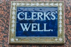 Clerk's Well, Clerks Well sign