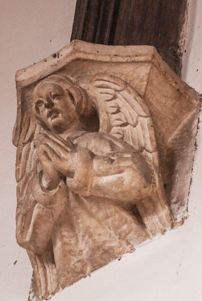 Long Compton, St Peter and St Paul photo, Corbel head of an angel