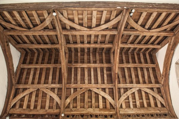 Long Crendon, St Mary's Church photo, 15th century chancel timber roof