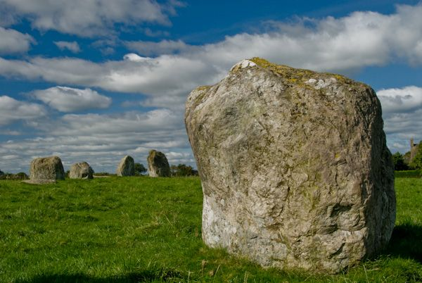 Long Meg and Her Daughters photo, Standing stone