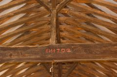 Longcot, St Mary's Church, Nave roof, rebuilt in 1702