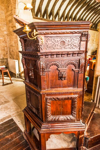 Longcot, St Mary's Church photo, Jacobean pulpit
