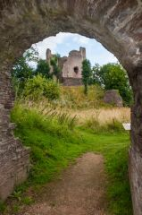 Longtown Castle, View through the gatehouse passage