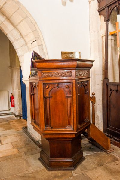 Longworth, St Mary's Church photo, Jacobean pulpit