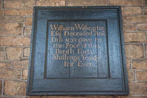 Lower Brailes, St George's Church photo, William Willington, 1533 bequest board