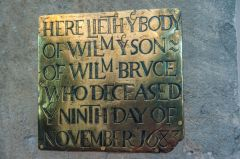 1683 William Bruce memorial brass