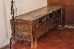 Early medieval wooden chest, chancel