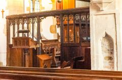 The restored 15th century chancel screen